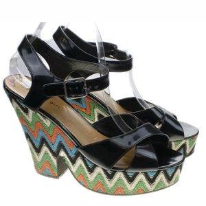 Madden Girl Multi Color Chunky Platform Heels